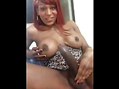 SELFIE of black tranny