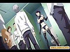 Bondage anime shemale with blindfold hot fucking  - clip # 02