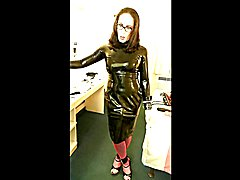 Slutty Black Latex Dress