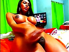 Incredible Kamila playing with her monster cock on cam  - clip # 02