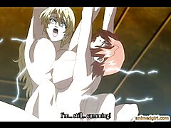 Two shemales anime with bigboobs chained and hot fucked