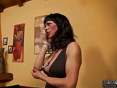PinkOShemales Two shemales and a guy  - clip # 05