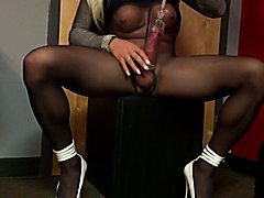 Cumming with The Pump and Pantyhose