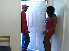 ebony shemale and black guy fuck each other bareback  - clip # 02