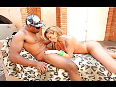 Super hot shemale fucked by big black guy