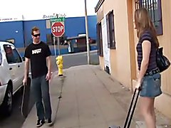 Hazel and Skater Guy