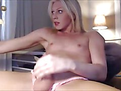 Nice Blonde Shemale Cums