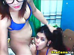 Here is one sensual shemale to female action. Watch this busty shemale as she licks and fing...