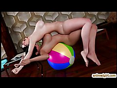 3D swimsuit futanari hot fucked on the gym ball tube presents by www.animedgirl.com