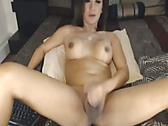 Hot Goddess of Sex shows Big Tranny Cock
