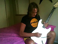 Liz song- playing my guitar along with some classic rock.