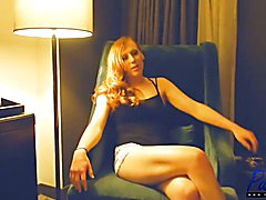 After a long day of getting her ass railed on camera for the first time ever, Shiri and I si...
