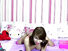 TS Filipina Sweet Shemale Play and Licks Candy  - clip # 02