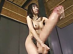 HUGE Dick Asian Futa Masturbates