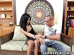 Nania is a beautiful shy transsexual that Ramon introduced us to and you already know what w...