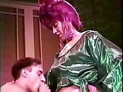 A vintage video . One where a Tarty Transvestite Lays her Male !