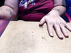 adam paints his nails