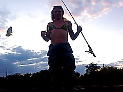 out fishing with friends, abit dark since its dusk, my cam adjusts to brighten as it goes, g...