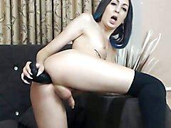Blue Haired Tranny Dildo
