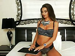 Ultra Hot Shemale in an Awesome Striptease and Masturbation  - clip # 02