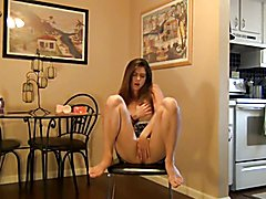 hot girl riding dildo on chair