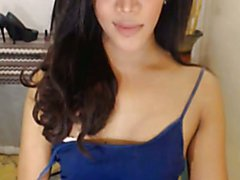 This pretty and gorgeous looking shemale shows off her pretty gorgeous and beautiful self wh...