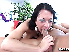 Danika Dreamz is a sexy shemale babe who gives Christian XXX a round of sloppy blowjob and l...