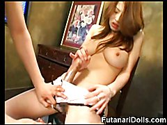 Kinky young asian hermaphrodites wanking their big strong cocks and jizzing for us!