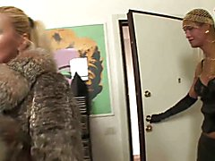 Tranny Art Blonde MILF fucked by chick with a dick  - clip # 06