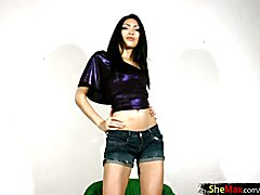 Sandy is hands down a beautiful tranny babe with a long, lean body that could put a supermod...