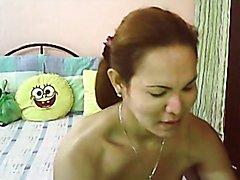 Real Filipina Hermaphrodite Skype Show #4  - clip # 02