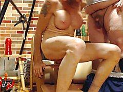 Sittin on a dildo an suckin an AFF member  - clip # 02