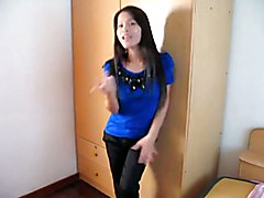 An amazing dellicious asian ladyboy strip and playing with her delicious dick in a wonderful...