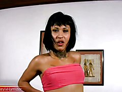 Sexy pink is certainly this shemale babes color. Black hair Rafaela Ridell is a tall, slim t...