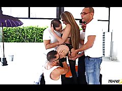 Group ass pounding action with sexy Sofia Obregon