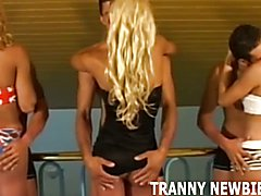 Theres a free spot in our tranny gangbang if you want to joi