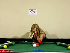 You will never look at a pool game the same again after seeing Laviny play some. This naught...