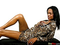 Hot and naughty Kawanna is a tall and thin shemale babe that loves posing for the camera. Sh...