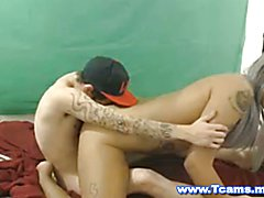 Sexy Shemale Lustfully Rides Cock