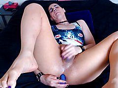 Enjoy me fuck myself with my fingers & favorite dildos. I love the delicious taste of my swe...