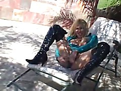AMERICAN BLONDE TGIRL STROKERS  - clip # 03