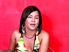 This chubby ladyboy babe has eyes that seem to scream cum and suck my girl rod. She starts o...