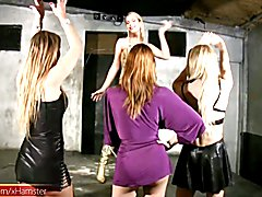 Four trannies dance and fuck in private anal drilling orgy  - clip # 02