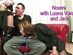 Tranny Art Two glamorous trannys and one straight guy threesome