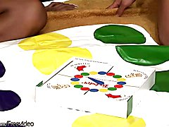 I will never look at the game of twister same again after watching these flirty trannies add...