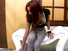 Michelle is a tall and slim shegirl with toned body, big breasts and massive shemeat. She st...