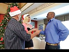 Husband gives his tranny wife a black cock christmas gift