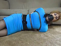 Tranny in Blue Dress tied