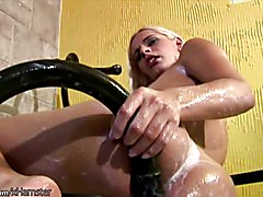 Frisky cock girl spreads anal hole wide in closeup and cums  - clip # 02