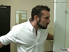 Tricking a gay man sucking your cock